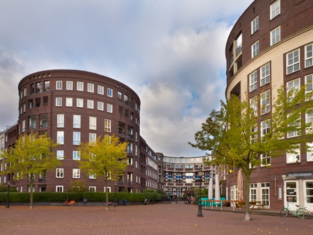 Amsterdam Urban City Scene with Apartments and Trees Stock Photo - 21844051