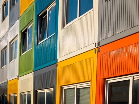 Cargo Containers in Many Colors Used as Apartment by Students to  Solve Housing Problem