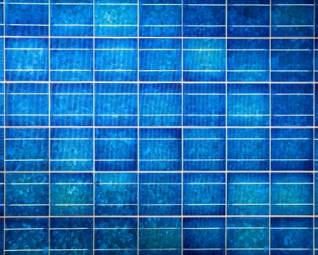 photoelectric: Wallpaper of a modern solar cell panel on a beautiful sunny day Stock Photo