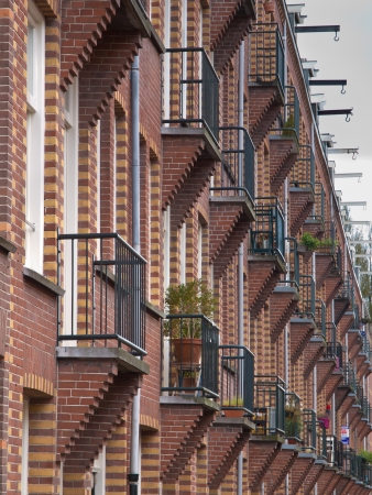 Apartment Background with Balconies in Amsterdam Netherlands Stock Photo - 22235145