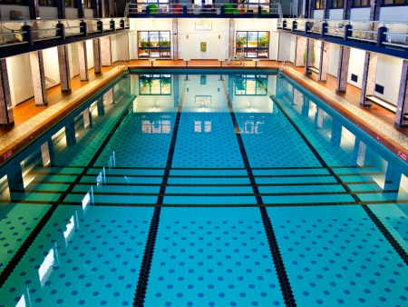 historical events: Historical Large Swimming Pool Hall Suitable for Competition Events