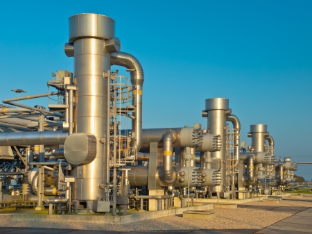 heavy industry: New Modern Oil and Gas Processing Plant