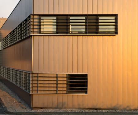 Modern Metal Exterior of an Industrial Building Stock Photo - 22235151