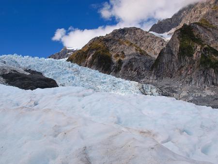 franz josef: Blue Ice on the Franz josef Glacier, West coast, New Zealand