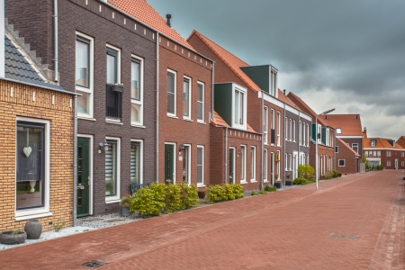 Moderne dorpsstraat in Contemporary Vintage traditionele stijl