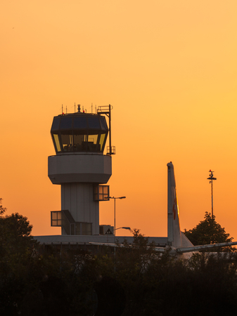 sabbatical: Small Air Traffic Control Tower as a Synbol for Holiday Feeling
