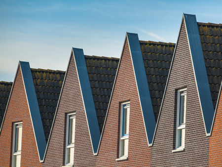 Modern terraced Houses in the Netherlnds Stock Photo
