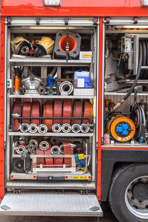 Hoses, Valves and other Inventory of a Fire Engine