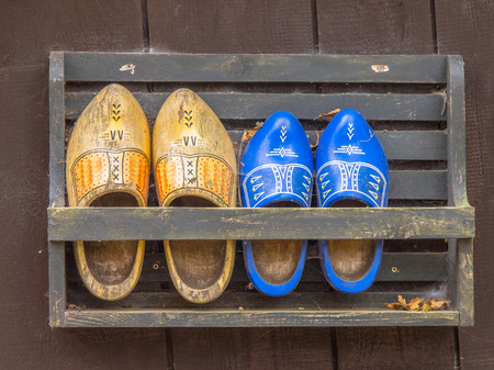 klompen: Traditional wooden shoes from the Netherlands Stock Photo