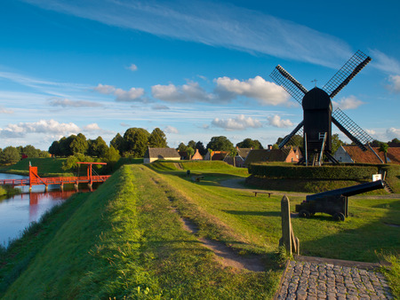 fortified: Fortified Town of Bourtange in the Netherlands