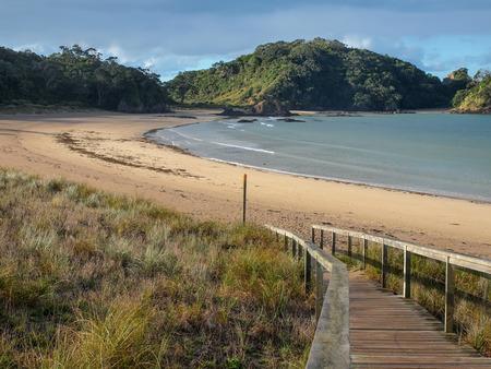 Inviting Beach at Matapouri Bay, Northland, North Island New Zealand photo