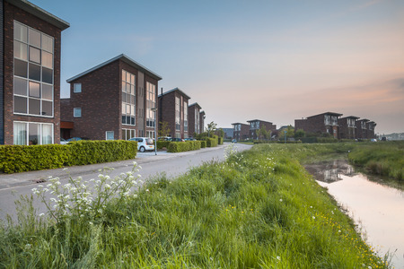 suburb: Large Modern Middle Class Suburban Houses in Groningen, Netherlands Editorial