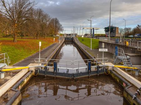 sluice: Pneumatic Marine Sluice in Delfzijl, Netherlands