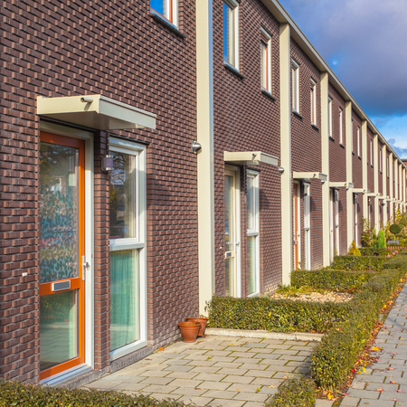 Close up of New Terraced Houses in Europe
