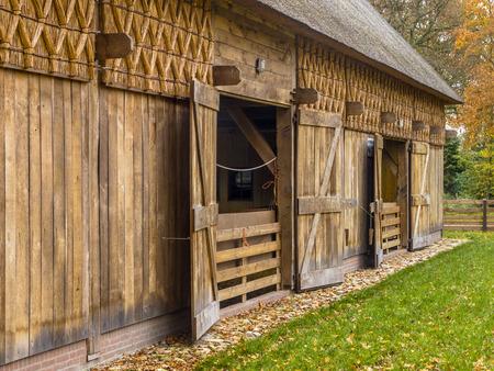 barn door: Wooden Barn in Typical European Style