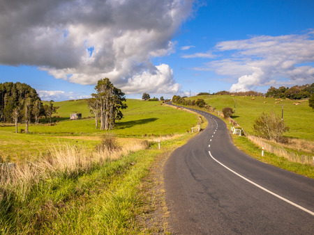 Road Trip Scene New Zealand photo