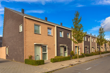 Modern Terraced Houses in a New Neighborhood photo