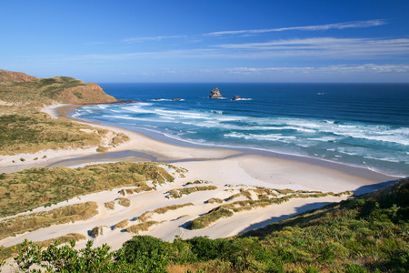 new zealand beach: Beach Paradise South Island New Zealand Stock Photo