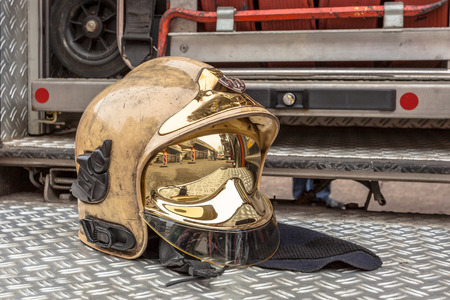 firefighting: Helmet and Other Inventory of a Fire Engine