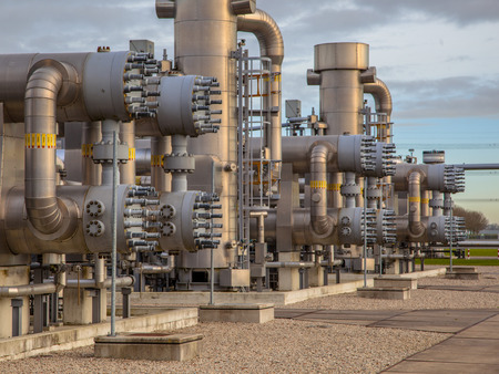 Modern natural gas field  in the Netherlands photo
