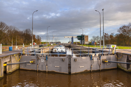central chamber: Giant Pneumatic Marine Sluice in Delfzijl, Netherlands