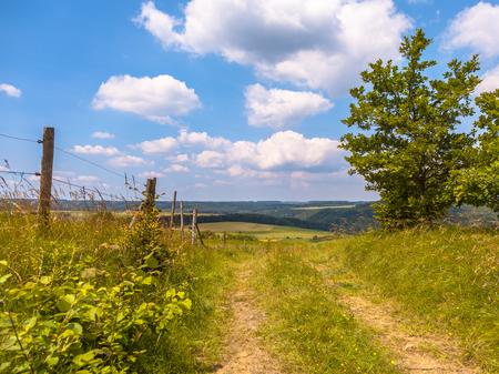 Patway through the Hills in Eifel, Germany Stock fotó