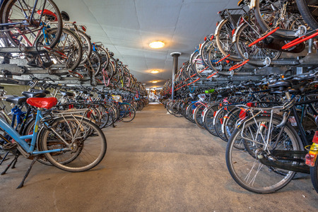 voted: Public Bicycle parking Groningen central station. The city of Groningen has been voted  most cycle friendly city of the Netherlands for 3 years in a row.