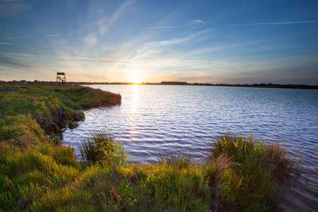 rural development: New Lake at Meerstad Development Area in Groningen, Netherlands