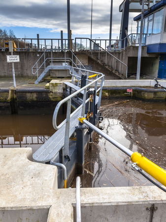 central chamber: Pneumatic Sluice Doors in Delfzijl, Netherlands Editorial