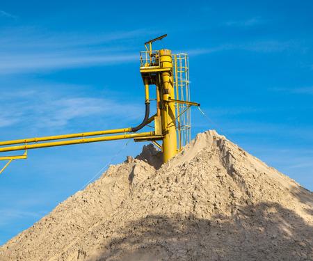 conveyors: Mine Conveyor at a Sand Hill with Blue Sky
