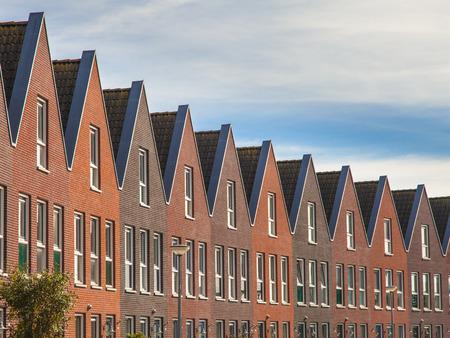 Upper Facade of Modern terraced Real Estate