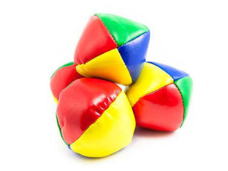 juggling: Concept for Multitasking Challenges, Set of Colorful Juggling Balls on White Background