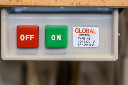 power switch: Electrical On Off power switch