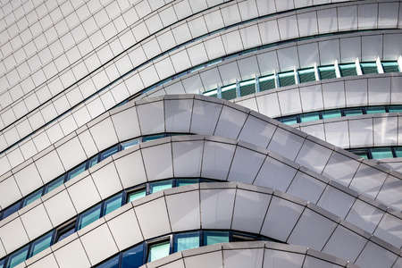 roof light: Geometric design details of a modern office building in the Netherlands Stock Photo