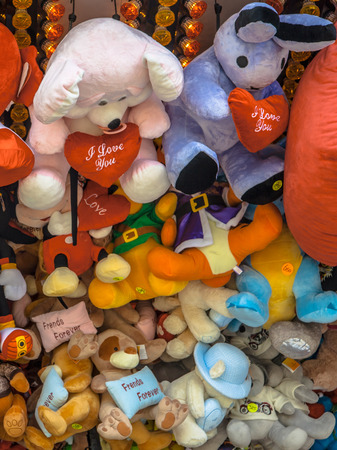 Teddy Bears and Cuddly Animal prizes in a Stall on a Fun Fair photo