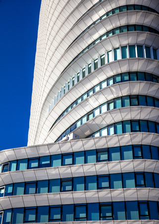 office buildings: Geometric architectural details of a modern office building in the Netherlands