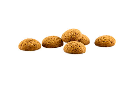zwarte: Group of Pepernoten, typical Dutch treat for Sinterklaas on december 5th, on White Background Stock Photo