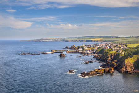 scottish: View over St Abbs village and the British coast
