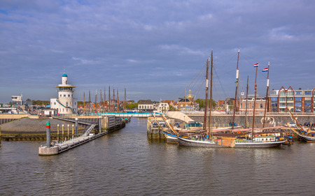 Harbor of harlingen. The departure point for the dutch wadden islands Terschelling and Vlieland