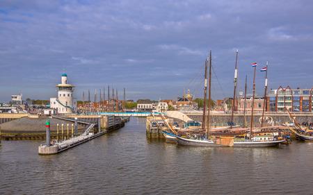 wadden: Harbor of harlingen. The departure point for the dutch wadden islands Terschelling and Vlieland