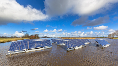 commercial building: Floating solar panels on unused water bodies can represent a serious alternative to ground mounted solar systems
