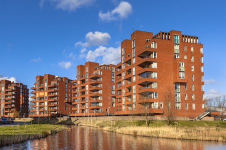 the elderly residence: Retirement apartment condominium flats in the city of Delft, Netherlands Editorial