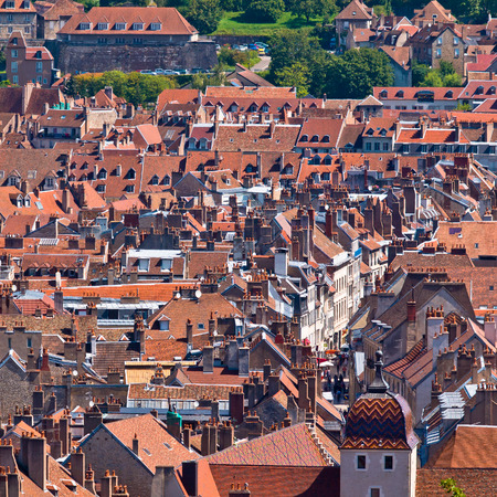 View over the roofs of a Medieval European City
