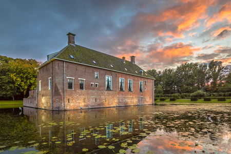 Verhildersum castle or borg was built in the 14th century to defend the area against intruders around Leens, Netherlands