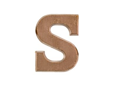 zwarte: Chocolate letter as Sinterklaas decoration on white background for dutch sinterklaasfeest holiday event on december 5th Stock Photo