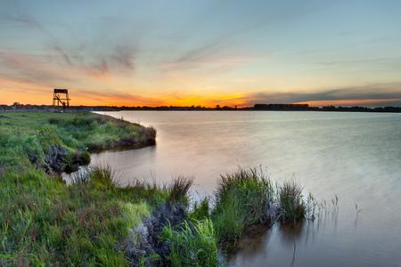 New Lake at Meerstad Development Area in Groningen, Netherlands