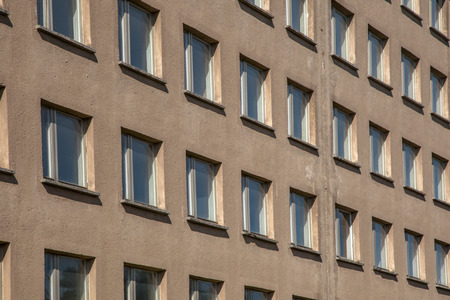 sight seeing: Background of Raw Concrete Building with Windows at Prora, Ruegen, Germany