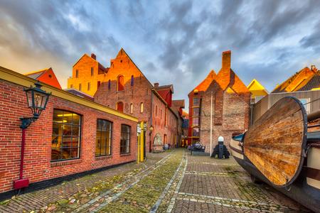 GRONINGEN, NETHERLANDS - NOVEMBER 2, 2016: Maritime museum or Noordelijk Scheepvaart museum in Groningen city centre