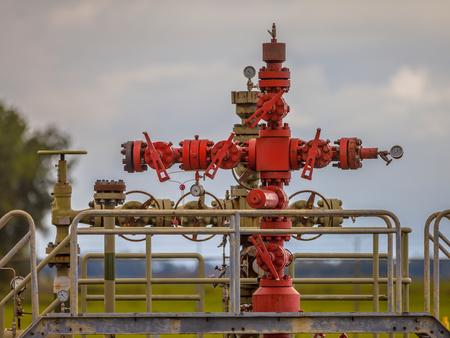 オランダのガス田駅の井戸ヘッド