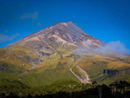 New Zealand Volcano Landscape Background Mount Egmont or Taranaki Volcano, New Zealand